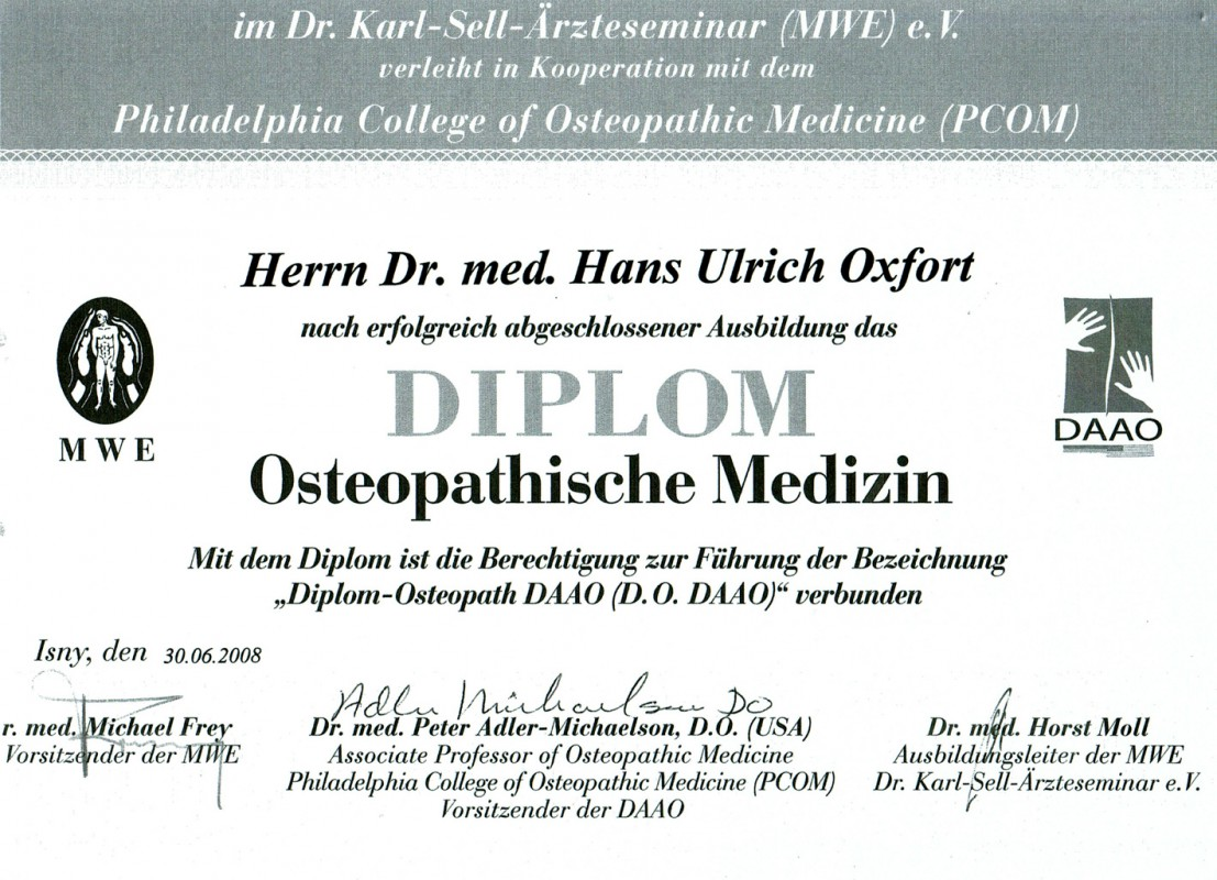 Diplom Osteopath DAAO